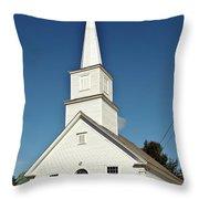 Vermont Church. Throw Pillow
