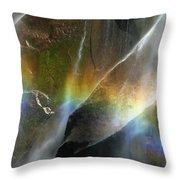 Vernal Falls Rainbow At Yosemite Throw Pillow