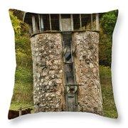 Vernon County Silo Throw Pillow