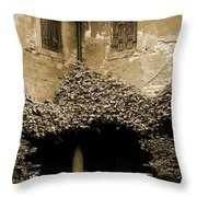 Verona Courtyard II In Sepia Throw Pillow