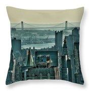 Verrazano From Manhattan Throw Pillow