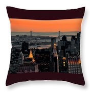 Verrazano Twilight Throw Pillow