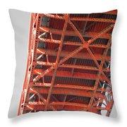Vertebrae Of The Bridge Throw Pillow