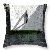 Vertical Sundial On Fenny Bentley Church Throw Pillow