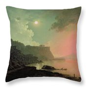 Vesuvius From Posillipo Throw Pillow by Joseph Wright of Derby