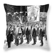 Veteran March, 1876 Throw Pillow by Granger
