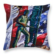 Veteran Warrior Throw Pillow