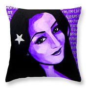 Veterana Throw Pillow by Michelle Dallocchio