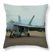 Vf-31 Tomcatters On Tarmac  Throw Pillow