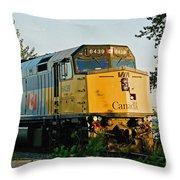 Via Rail Engine Throw Pillow