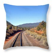 via Train 658 Throw Pillow