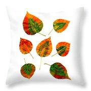 Vibrant Autumn Leaves Throw Pillow