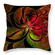 Vibrant Bloom Throw Pillow