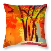 Vibrant Bouquet Throw Pillow
