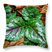 Vibrant Ground Cover  Throw Pillow