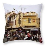 Vibrant Hanoi Throw Pillow