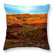 Vibrant Hills Throw Pillow