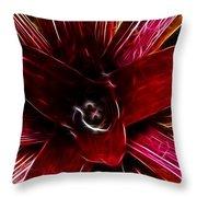 Vibrant Succulent  Macro Throw Pillow