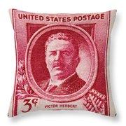 Victor Herbert Postage Stamp Throw Pillow