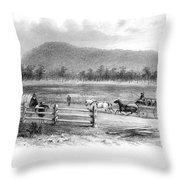 Victoria, Australia, 1856 Throw Pillow