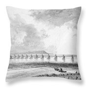 Victoria Bridge Throw Pillow