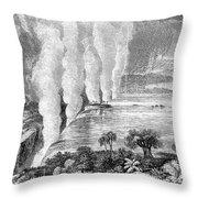 Victoria Falls, C1860 Throw Pillow