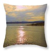 Victoria Harbor Sunset Throw Pillow