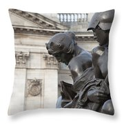 Victoria Memorial Fountain Throw Pillow