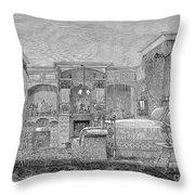 Victorian Bedroom, 1884 Throw Pillow