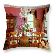 Victorian Dining Throw Pillow