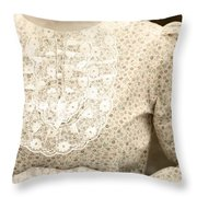 Victorian Dress Throw Pillow