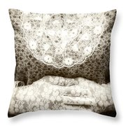 Victorian Hands Throw Pillow