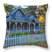 Victorian Home Marthas Vineyard Throw Pillow