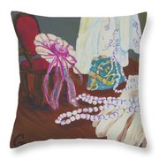 Victorian Lace Throw Pillow