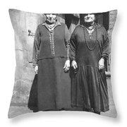 Victorian Ladies Throw Pillow