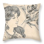 Victorian Lady - 1 Throw Pillow