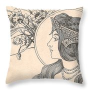 Victorian Lady - 2 Throw Pillow