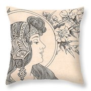 Victorian Lady - 3 Throw Pillow