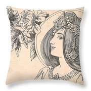 Victorian Lady - 4 Throw Pillow