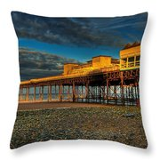 Victorian Pier Throw Pillow by Adrian Evans