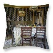 Victorian Sedman Home Dining Room - Nevada City Montana Throw Pillow