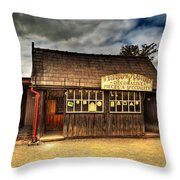 Victorian Shop Throw Pillow by Adrian Evans