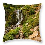 Vidae Falls Landscape Throw Pillow