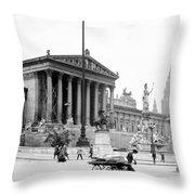 Vienna Austria - Parliament Building - C 1926 Throw Pillow