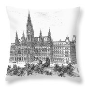 Vienna: City Hall, 1889 Throw Pillow