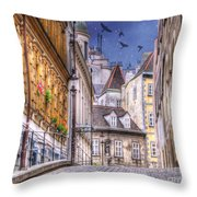 Vienna Cobblestone Alleys And Forgotten Streets Throw Pillow