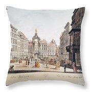 Vienna: Hohemarkt, 1793 Throw Pillow