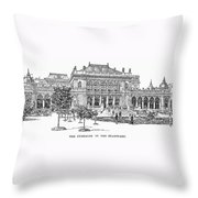 Vienna: Stadtpark, 1889 Throw Pillow