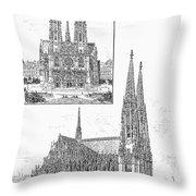 Vienna: Votive Church Throw Pillow
