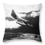 Vietnam War: A4 Skyhawk Throw Pillow